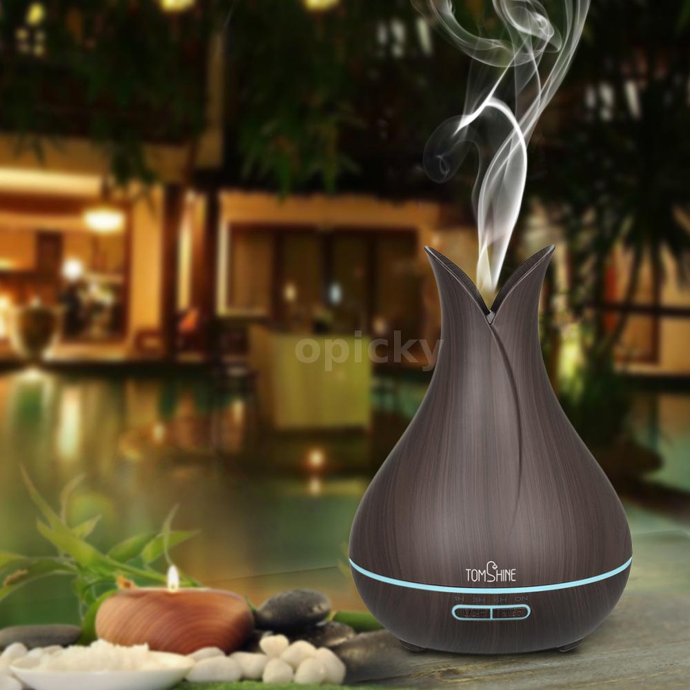 LED Ultrasonic Humidifier Air Purifier Essential Oil Diffuser Aromatherapy R4I3